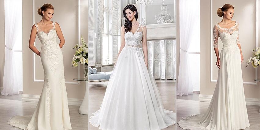 Brautkleider mit Schleppe bei Brautparadies Rosenheim